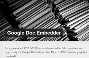 Plug-in Google Doc Embedder